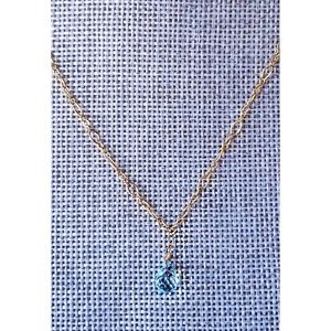 """Topaz Necklace """"we are all just a drop in the sea"""""""